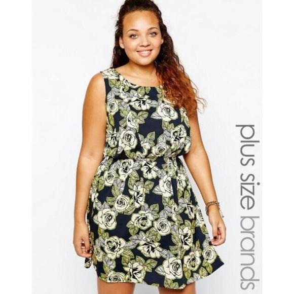 Asos Curve Dresses Floral Asos Plus Size Dress Poshmark